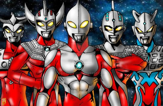 Ultraman Brothers by BigRob1031