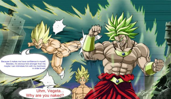 DBZ FUNNY COMIC SERIES - Better Naked than Dead by SSJGOKU10