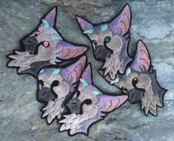 Trico bust version ~ embroidered iron-on patches by CyanFox3