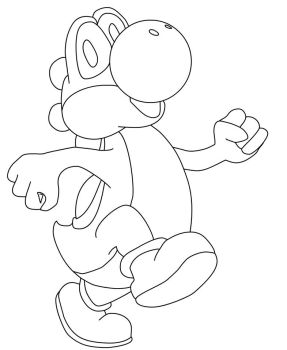 Yoshi Attempt 2 -outline by Feld0