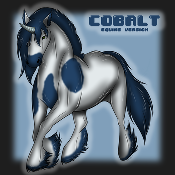 Wolfie Cobalt (gift) by NedyahClea