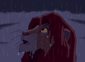 Simba Takes His Place as King by SolitaryGrayWolf