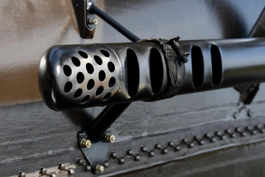 Royal Aircraft Factory S.E.5a Exhaust Detail by Daniel-Wales-Images