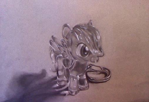 Rainbow Dash Keychain Charcoal by ZowieBlaze