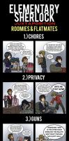 Elementary/Sherlock: Roomies and Flatmates by maryfgr23