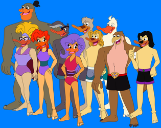 Mighty Ducks In Their Swimsuits 2 by HannahBro