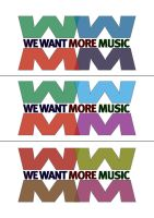 We Want More Music Logo by DeGraafCreativity