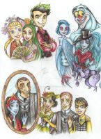 Pupils of the MonsterHigh and their parents) by Anastasia1995art