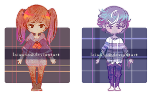 Plaid children adopts [1/2 OPEN] by Laisana