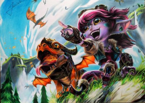 Tristana Dragon Trainer - League of Legends by JeanCarlo183