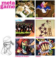 Metagame Illustrations by mishinsilo