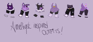 Steven Universe: Amethyst-inspired outfits! by IsabelleVII