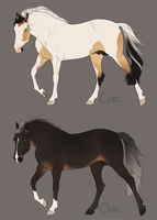Horse Adoptables [Closed] by Nukinit