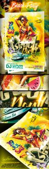 Beach Party PSD Flyer Template by yAniv-k