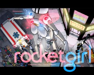 Rocket Girl Desktop Wallpaper! by Tentopet