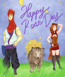 KA Event - Rose day and Tiger by kongless34