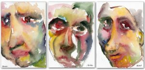 Set of 3 Abstract Portraits by MarinaSotiriou