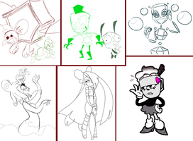Collection of Unfinished/Not Posted Art by Miss-Zi-Zi