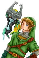 Midna and Link by Rinkuchan27