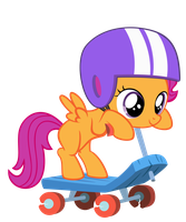 Scoots scoots on her scooter by FluffyTuli