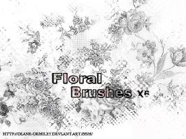 floral brushes by Diane-Demiley