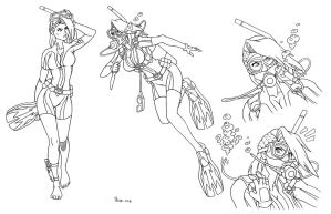 COM - Shelly Harrison Scuba Concept Sheet by shoxxe