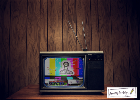 Redacted-Color Bars 80s TV by PenciltipWorkshop