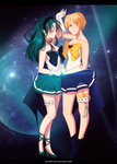 Sailor Neptune and Sailor Uranus [FanArt] by Alix89