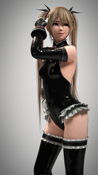 Marie rose 1 (Black Latex) by Chrissy-Tee
