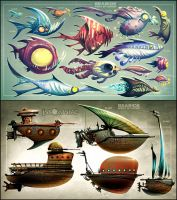 Fish and Ships by CreatureBox