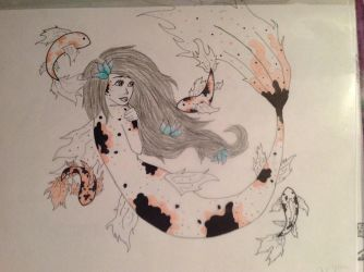 Koi mermaid completed. by 10stanford