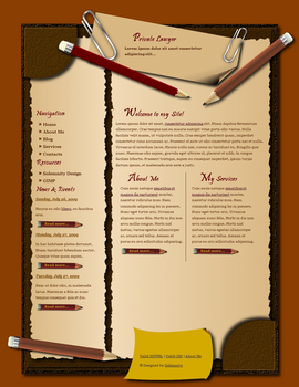 Lawyer's Page Template by Solemnity111
