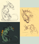 New character concept sketches by LiLaiRa