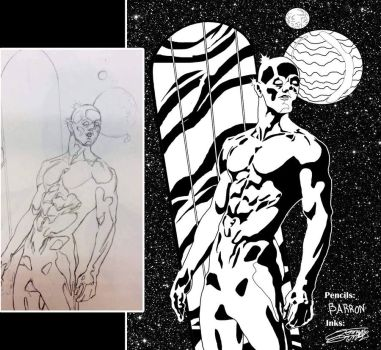 SilverSurfer Inks COMMISH by VAXION