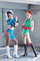 Street Fighter - Chun-li and Cammy by MeganCoffey