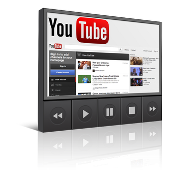 Youtube Player Icon 1024 x 1024 by T0j