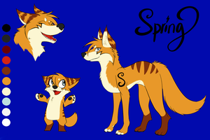 Spring Wolf Form by Springfeather