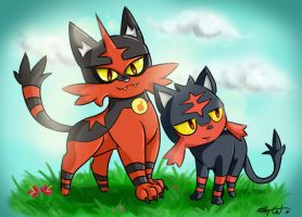 Torracat and Litten (SPEEDART)