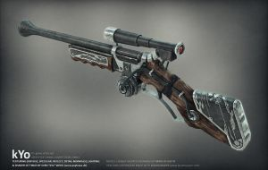Steampunk Rifle by xell