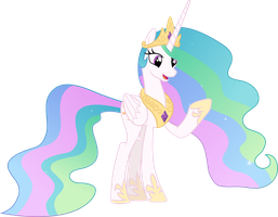 Celestia found something on her hoof by FrownFactory