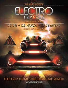 Electro triangle flyer by MbarekAMsoft