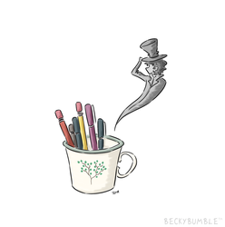 The pen pot ghost by BeckyBumble