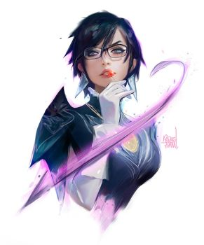 Bayonetta sketch! by rossdraws