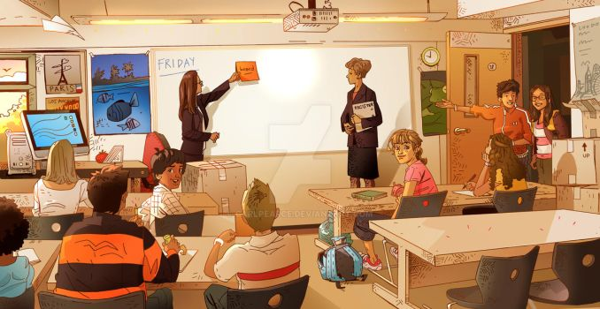 Another Classroom Scene by CarlPearce