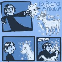 snape's patronus -spoilers??? by MagnoliaPearl