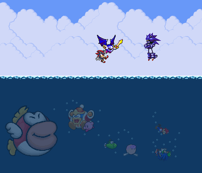 A crisis on Cheep Cheep Ocean by Legend-tony980