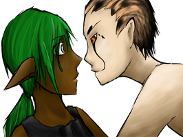Ndale and Aesis Getting Close by SynthesizedConiine