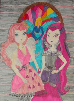 Friendship - Cupid and Raven by Winxhelina