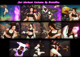 Juri Workout Costume by BrutalAce
