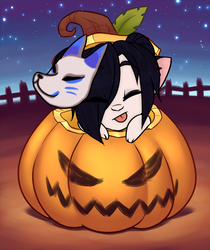 Pumpkin YCH by RoseandherThorns